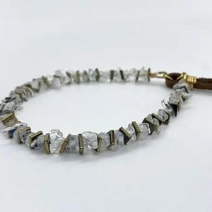 Rainbow Moonstone Gold Adjustable Bracelet