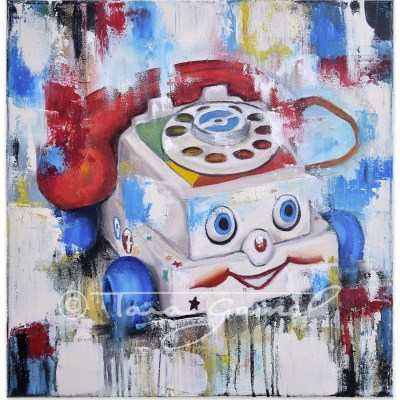Eye Phone Recall 18″x18″ Oil on Canvas