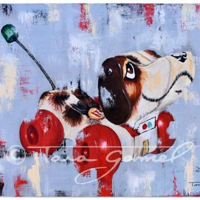 Puppy Love 24″x18″ Oil on Canvas
