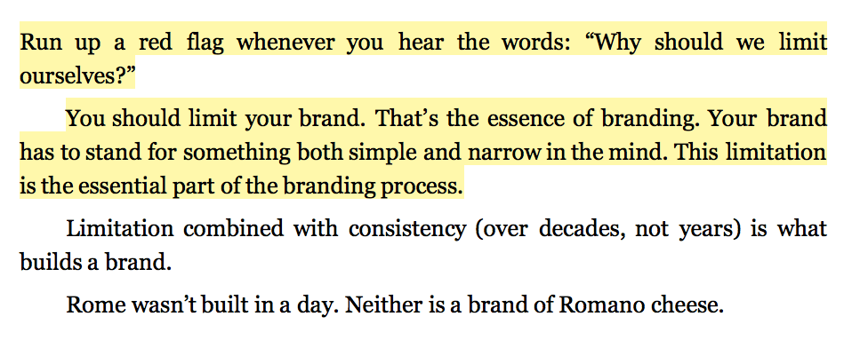 More doesn't mean better when it comes to your brand or business model.
