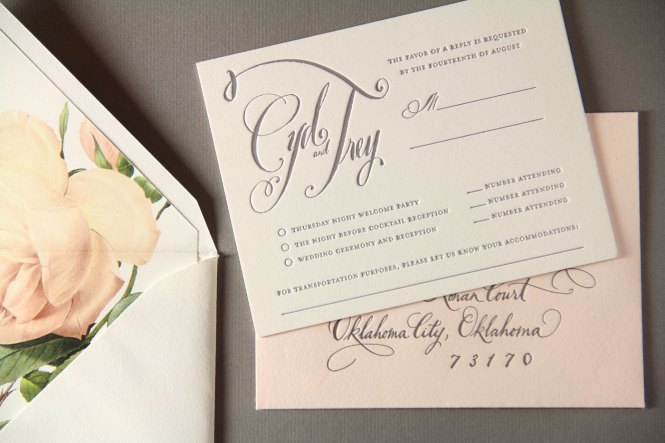 Elegant Calligraphy Wedding Invitation By Pear Paper Co Suite Viadafo Choice Image