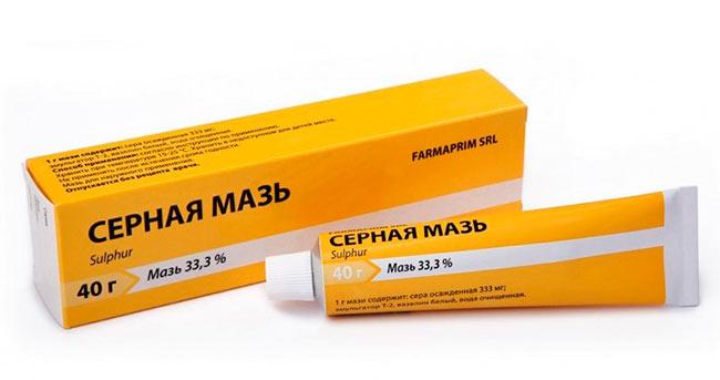 Thuốc mỡ lưu huỳnh chống chấy và Gid