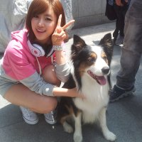 Eunjung & cute doggie