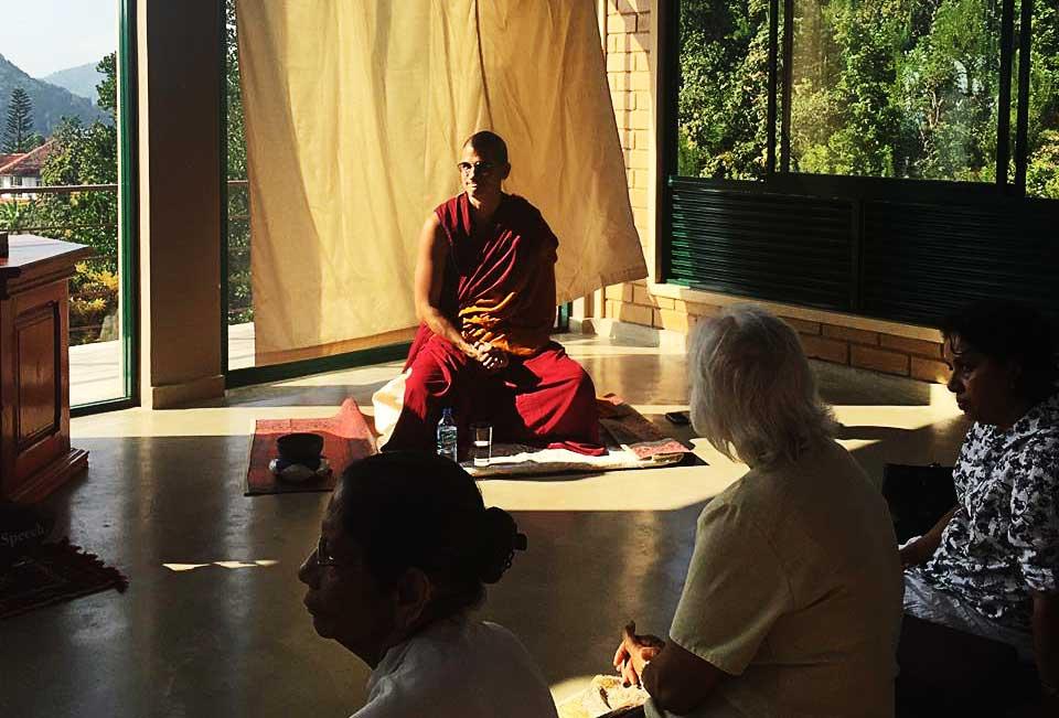 Ven Namjong teaching in Sri Lanka