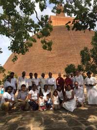Ven Lekdron Ven Birgit at Anuradapura