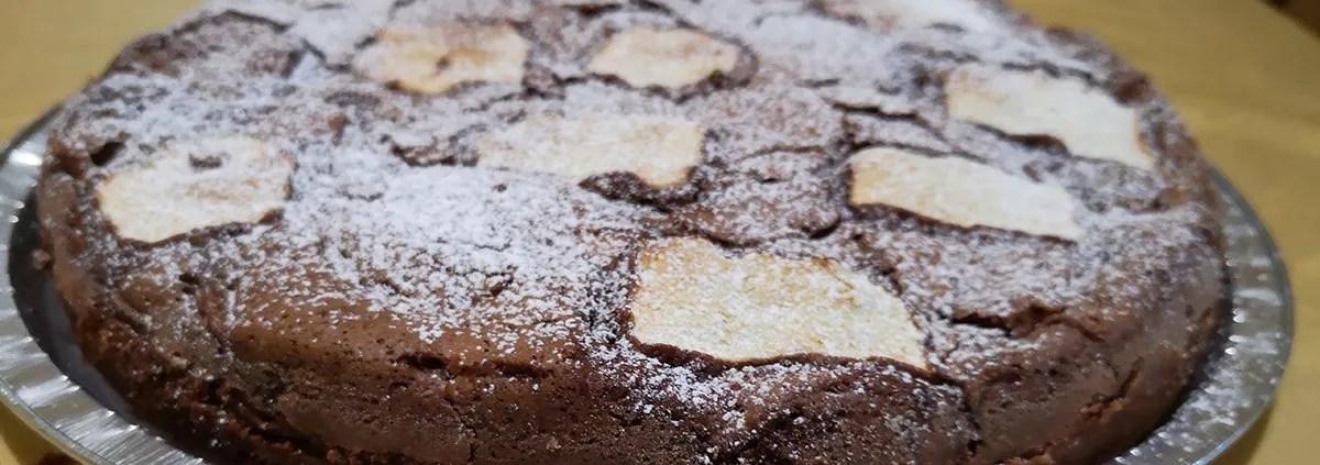 torta di mele e cioccolato