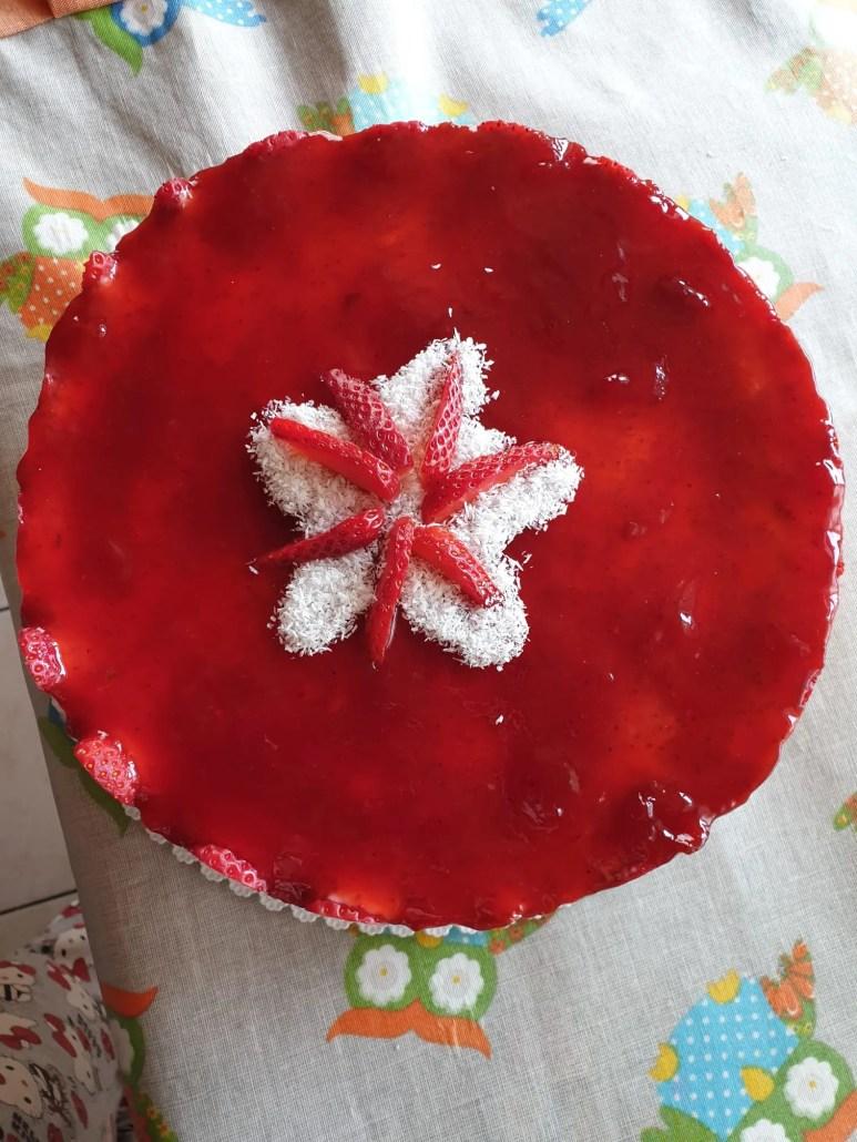 Cheesecake fragole e cocco