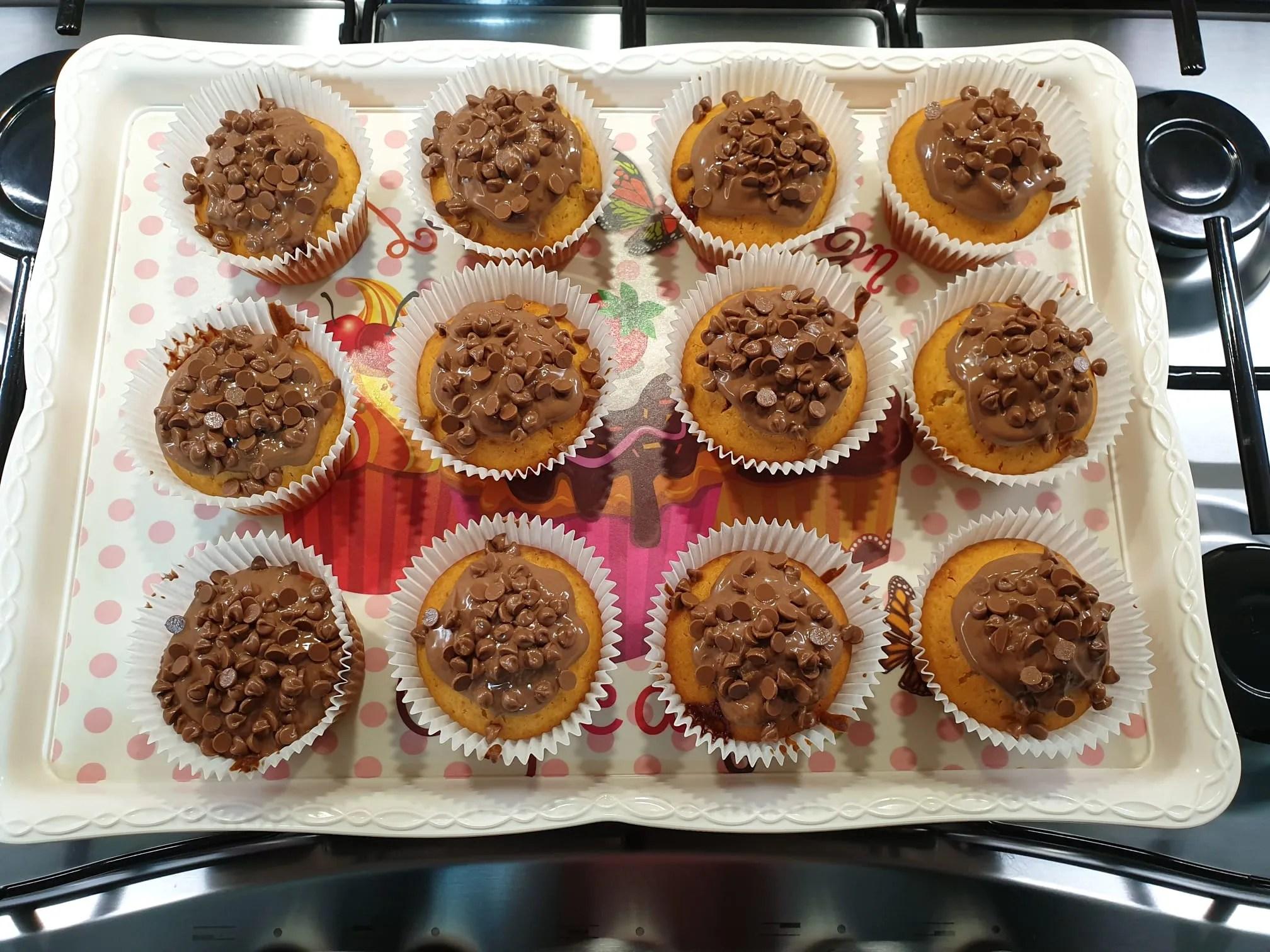 Muffin con cuore di Milka di Giada