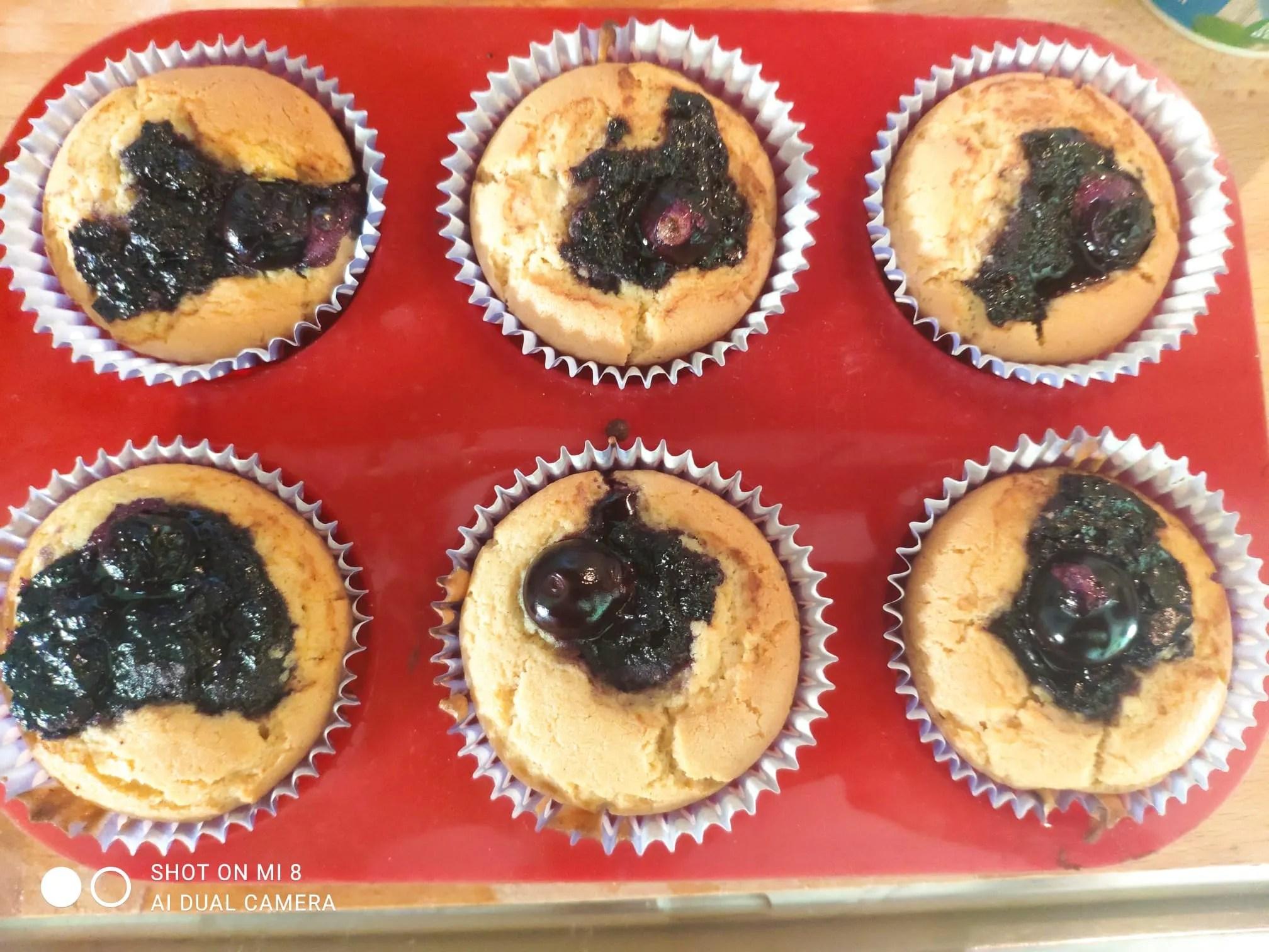 Muffin ai mirtilli senza glutine e senza lattosio