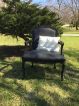 Black Upholstered Chair