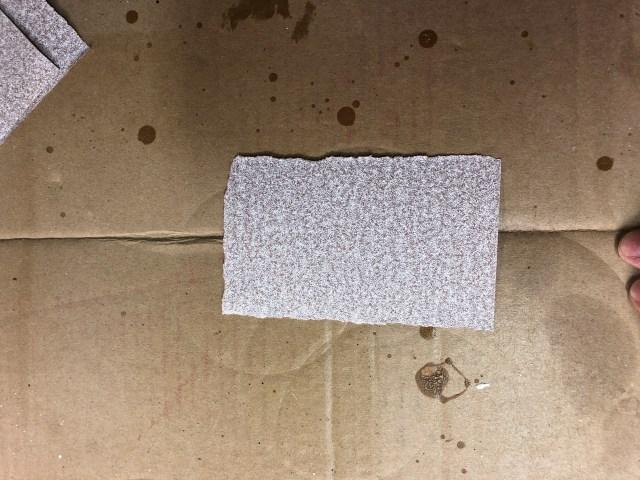 sandpaper folding