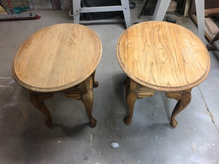 stripped oak tables