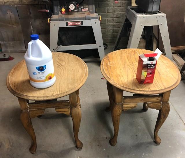 comparison on wood bleaching