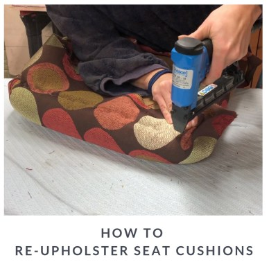 Recovering chair seat