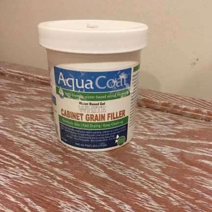 Aqua Coat White Grain Filler – Product How To
