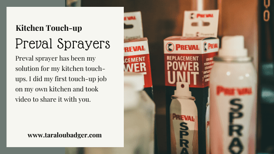 Touch-up Painted Kitchen Cabinets With Preval Sprayer ...