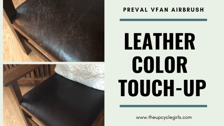 Leather Color Repair Using Preval vFan Airbrush