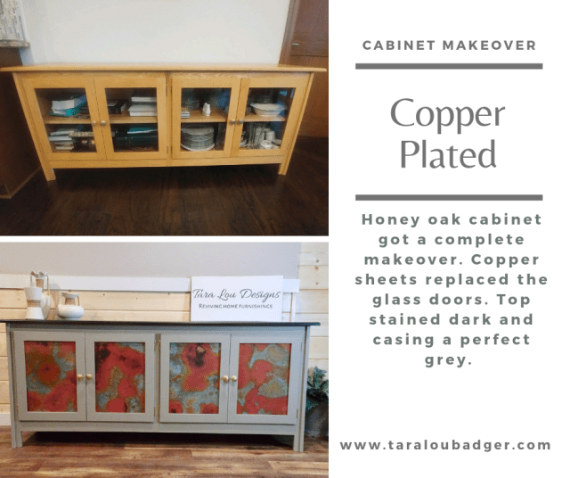 copper plated cabinet