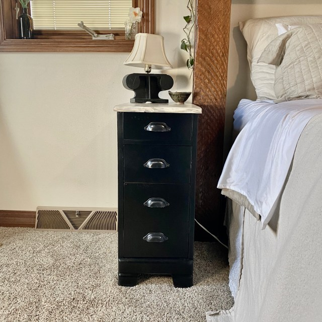 Black and grey night stand