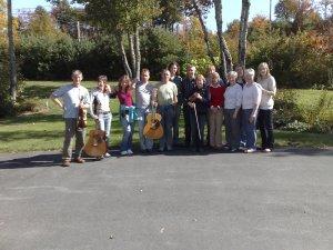 Taransay fiddlers first day in Halifax