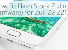 How To Flash Stock ZUI rom (firmware) for Zuk Z2 Z2131