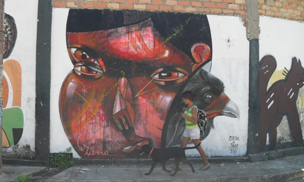 evoca1 and jade street art in peru