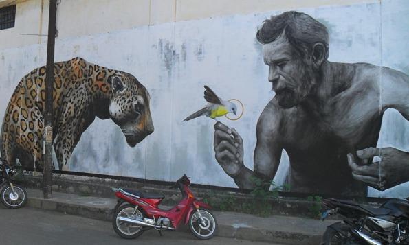Evoca1 street art in Tarapoto, Peru