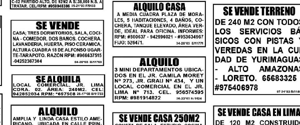Find apartments to rent in Tarapoto