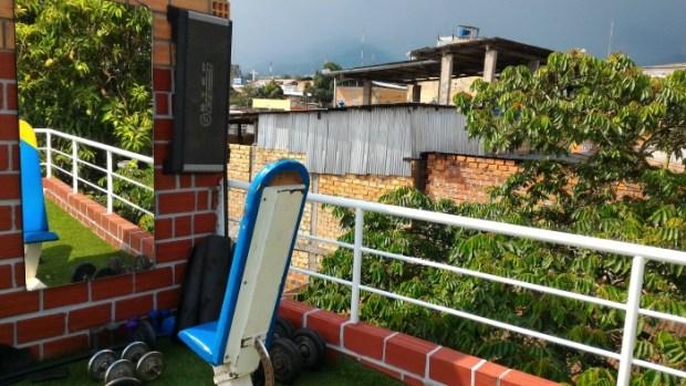 Weights at Hostal Indios, Tarapoto