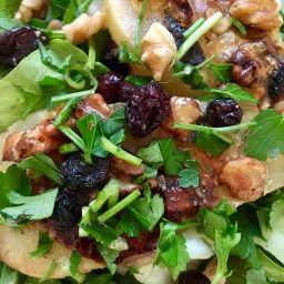 Roasted Pears with Blue Cheese, Cranberry and Walnuts