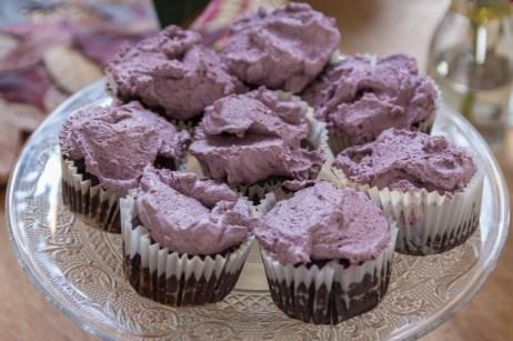 Acai Flourless Chocolate Cakes with Acai Whipped Cream