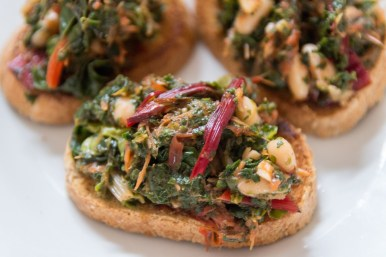 Kale and Cannellini Bean Bruschetta