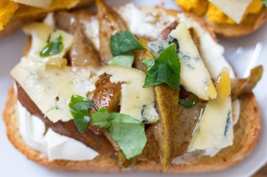 Pear and Blue Cheese Bruschetta