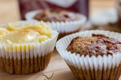 Indigo Herbs Chamomile cupcakes - grain and dairy free