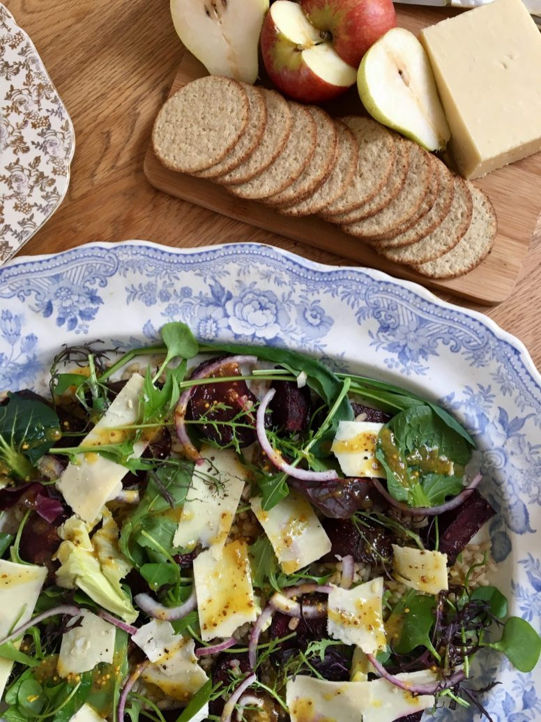 Roasted Beetroot and The Black Farmer Cheddar Salad