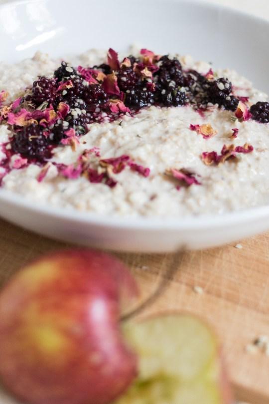 Apple and Blackberry Bircher Muesli