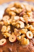 Banana and Jujube Fruit Cake with Honey and Walnut Glaze