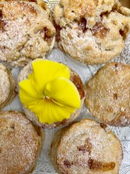 Limoncello Fudge Scones
