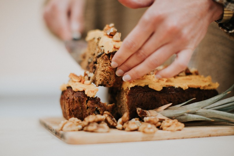 Spiced Pumpkin, Walnut & Chocolate Chip Cake