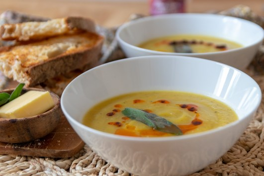 Butternut Squash and Sage Soup with Chilli Oil