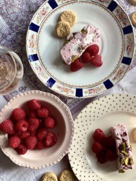 Tara Makes - Rose & Pistachio No Churn Ice Cream