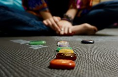 "Alicia Simpson, 20, displays her collection of stones in her dorm room at Flagler College in St. Augustine, Florida on Wednesday, April 12, 2017. When asked about why she chose to become Pagan, Simpson said, ""It's a much friendlier option to me, and it's also a lot more open to people of any gender or sexuality."""