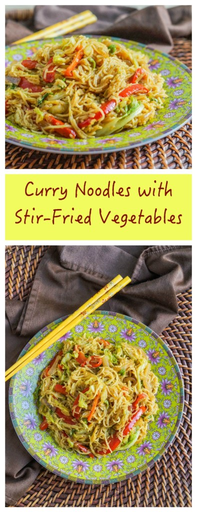 Curry Noodles with Stir-Fried Vegetables