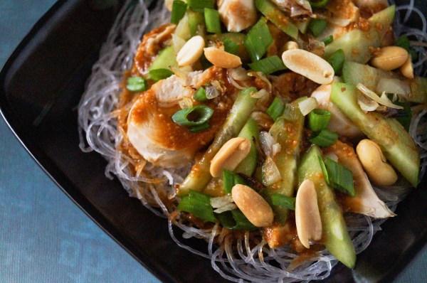 Bang Bang Chicken on Glass Noodles