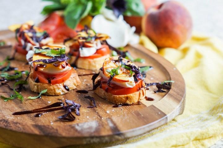 Peach Tomato and Mozzarella Crostini (2 of 3)