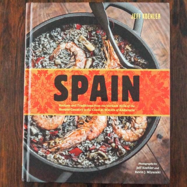 Cookbook cover- Spain written by Jeff Koehler.