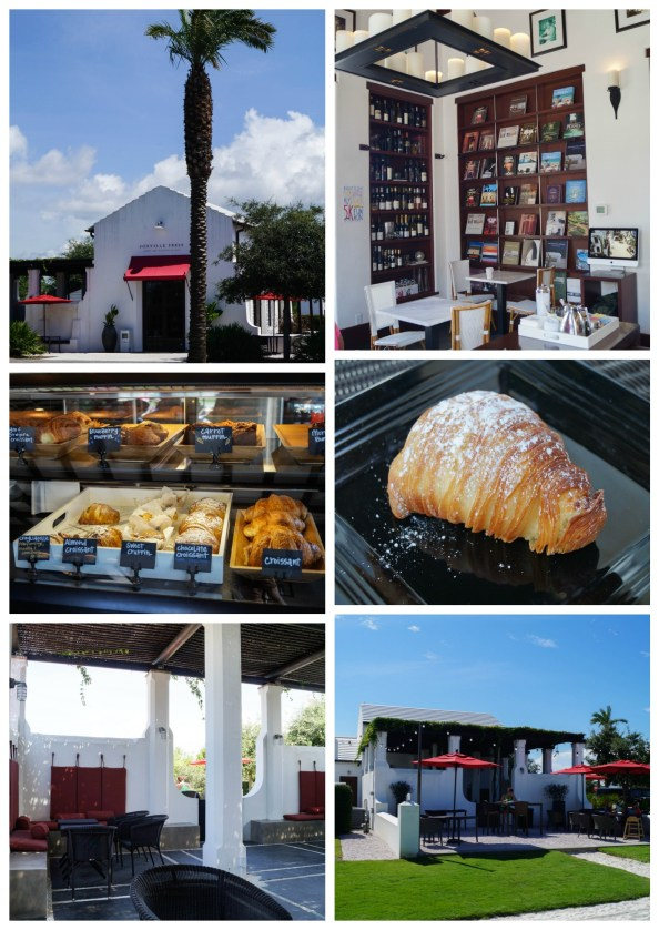 Pastries and seating inside Fonville Press in Alys Beach.