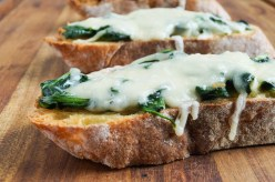 Bruschetta with Fontina and Greens