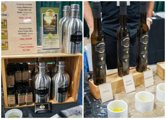 Olive oil on display from Laconiko.