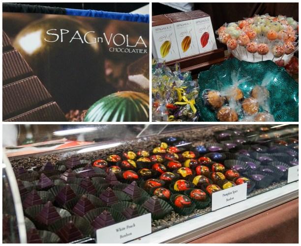 Chocolate on display at SPAGnVola Chocolatier.